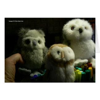 Portrait of Owls Card