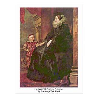 Portrait Of Paolina Adorno. By Anthony Van Dyck Postcard
