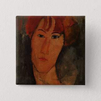 Portrait of Pardy, c.1915 (oil on canvas) 2 Inch Square Button