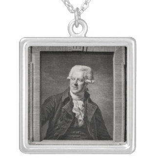 Portrait of Pascal Paoli Silver Plated Necklace