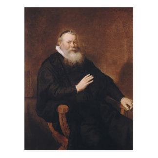 Portrait of Pastor Eleazer Swalmius, 1637-42 Postcard
