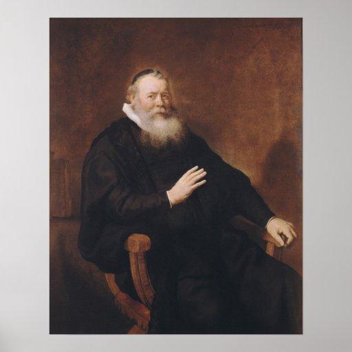 Portrait of Pastor Eleazer Swalmius, 1637-42 Posters