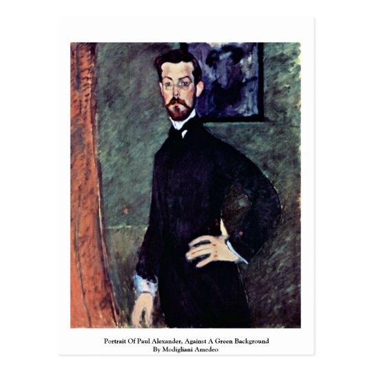 Portrait Of Paul Alexander By Modigliani Amedeo Postcard