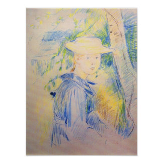 Portrait of Paule Gobillard by Berthe Morisot Poster