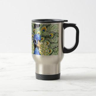 Portrait of Peacock Travel Mug