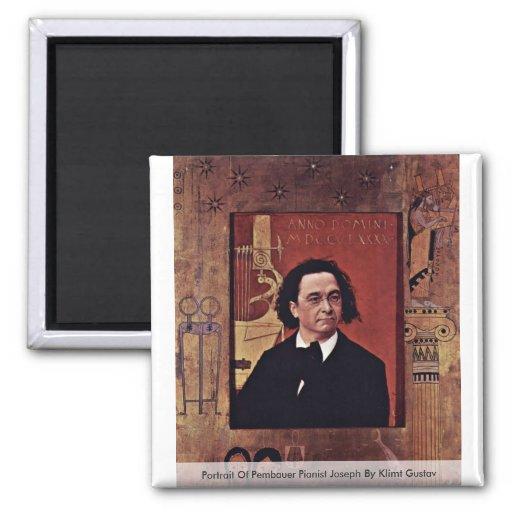 Portrait Of Pembauer Pianist JosephBy Klimt Gustav Magnets