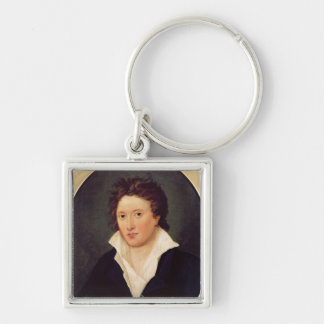 Portrait of Percy Bysshe Shelley, 1819 Keychain