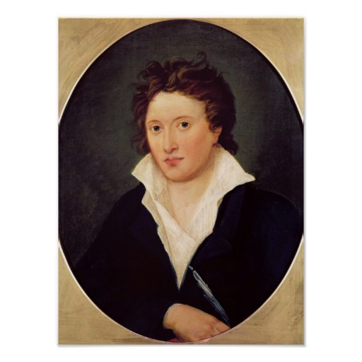 Portrait of Percy Bysshe Shelley, 1819 Poster