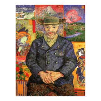 Portrait of Père Tanguy, Van Gogh Fine Art Postcard