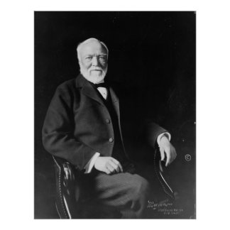 Portrait of Philanthropist Andrew Carnegie Poster