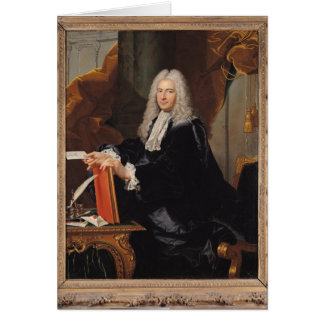 Portrait of Philibert Orry Card