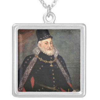 Portrait of Philip II  of Spain 2 Silver Plated Necklace