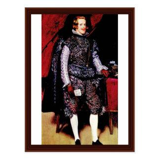 Portrait Of Philip Iv By Diego Velázquez Postcard