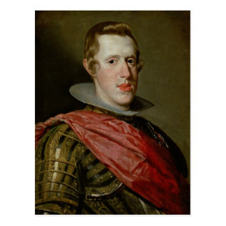 Portrait of Philip IV  in Armour, 1628 Postcard