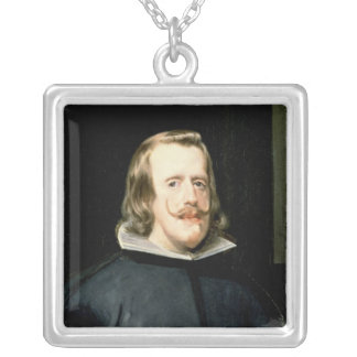 Portrait of Philip IV  in Court Dress, 1655 Silver Plated Necklace