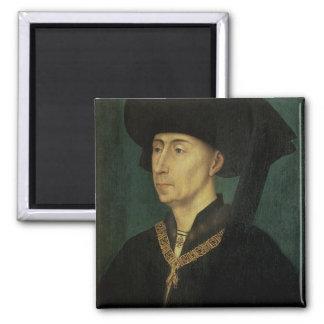Portrait of Philip the Good  Duke of Burgundy Square Magnet