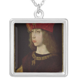 Portrait of Philip the Handsome Silver Plated Necklace
