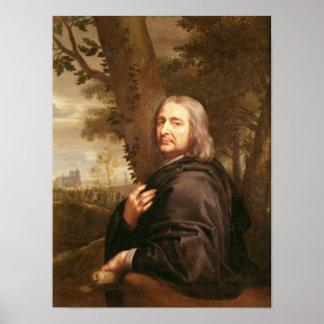 Portrait of Philippe de Champaigne, 1668 Poster