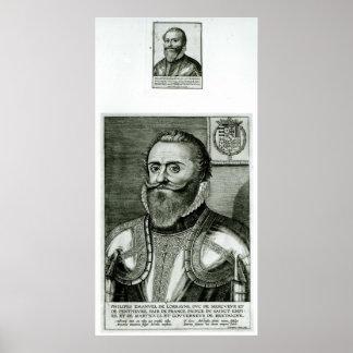 Portrait of Philippe-Emmanuel de Lorraine Poster