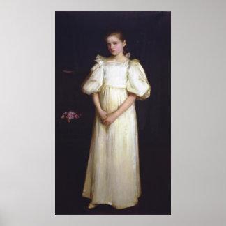 Portrait of Phyllis Waterlow by John Waterhouse Poster