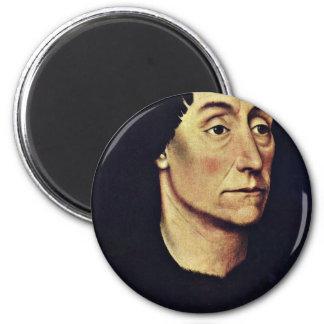 Portrait Of Pierre De Beffremont By Weyden Rogier 2 Inch Round Magnet