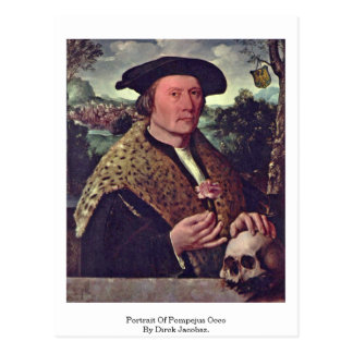 Portrait Of Pompejus Occo By Dirck Jacobsz. Postcard