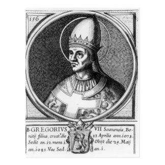 Portrait of Pope Gregory VII Postcard