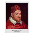 Portrait Of Pope Innocent X. By Diego Velazquez Poster