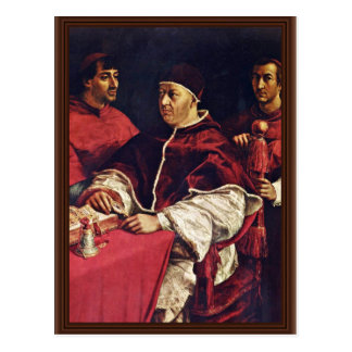 Portrait Of Pope Leo X With His Cousins By Raffael Postcard
