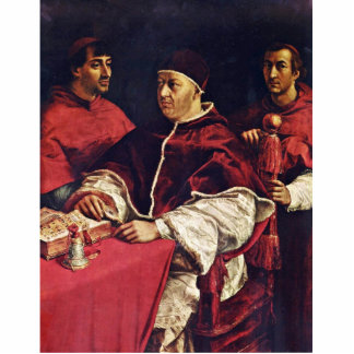 Portrait Of Pope Leo X With His Cousins By Raffael Standing Photo Sculpture