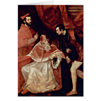 Portrait Of Pope Paul Iii By Titian Card