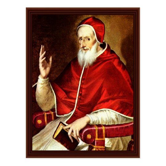 Portrait Of Pope Pius V. By Greco El Postcard