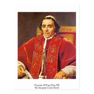 Portrait Of Pope Pius Vii By Jacques-Louis David Postcard