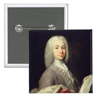 Portrait of Prince Antiokh Kantemir 2 Inch Square Button
