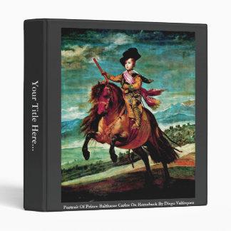 Portrait Of Prince Balthasar Carlos On Horseback 3 Ring Binder