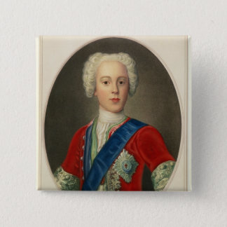 Portrait of Prince Charles Edward 2 Inch Square Button