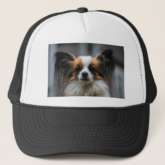 Portrait of purebred Papillon dog Trucker Hat