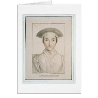 Portrait of Queen Anne of Cleves (1515-57) engrave Card