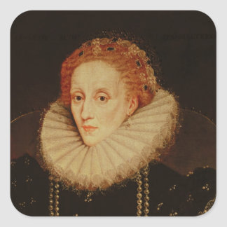 Portrait of Queen Elizabeth I Square Sticker