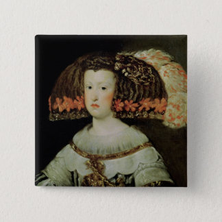 Portrait of Queen Maria Anna  of Spain 2 Inch Square Button