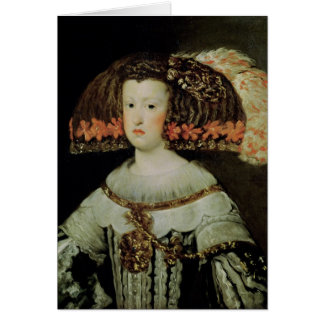Portrait of Queen Maria Anna  of Spain Card