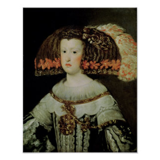 Portrait of Queen Maria Anna  of Spain Poster