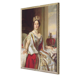 Portrait of Queen Victoria (1819-1901) 1859 (oil o Canvas Print