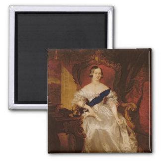 Portrait of Queen Victoria Square Magnet