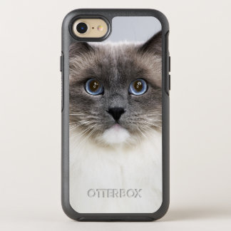 Portrait of Ragdoll cat OtterBox Symmetry iPhone 7 Case