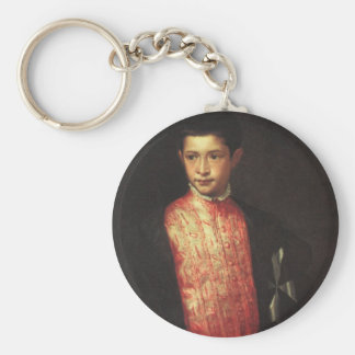 Portrait of Ranuccio Farnese Basic Round Button Keychain
