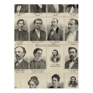 Portrait of Real Estate Dealers, Minnesota Postcard