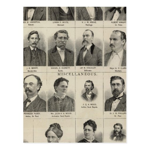 Portrait of Real Estate Dealers, Minnesota Postcard