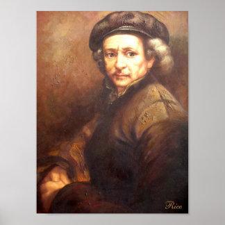 Portrait of Rembrandt Print on Canvas