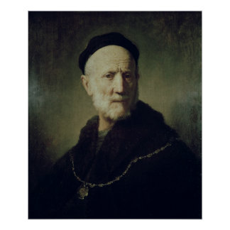 Portrait of Rembrandt's Father Poster